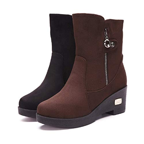 Ronamick - Stivali da donna, traspiranti, con cerniera laterale, in cotone, caldi, da neve, stivali da donna Size: 39 EU
