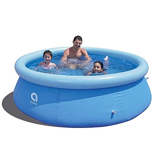 Avenli Family Prompt Set Pool Ø 240x63cm Aufstellpool ohne Pumpe, Pool Set , Gartenpool, Schwimmbecken für Familien & Kinder