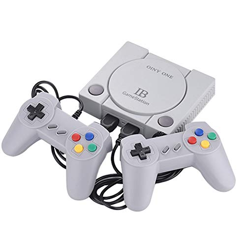 Shumo Console di Gioco TV un 16 Bit e 8 Bit Incorporata nel 648 Giochi Av con Controlli Dual Gamepad Retro Famiglia Classici Giocatori di Gioco Portatili Spina Eu