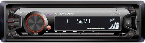 Creasono 1 DIN Autoradio: MP3-RDS-Autoradio CAS-2250 mit USB-Port & SD-Slot, 4X 45 W (Einbauradio)
