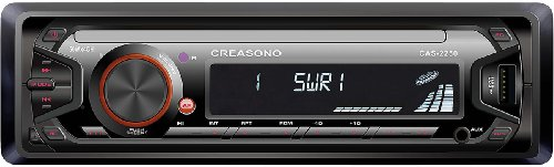 Creasono CAS-2250 MP3 radio's: MP3-RDS-autoradio met USB-poort & SD-slot, 4x 45 W (autoradio met MP3-ondersteuning)