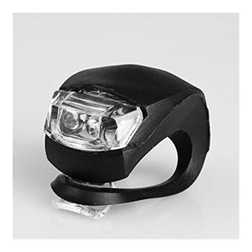 NOLOGO Yg-ct Fahrrad-vordere Licht-Silikon-LED-Licht, vornes Hinterrad Fahrrad-Licht-wasserdichtes Fahrrad mit Batterie Fahrradzubehör Fahrrad Lampe (Farbe : Schwarz)