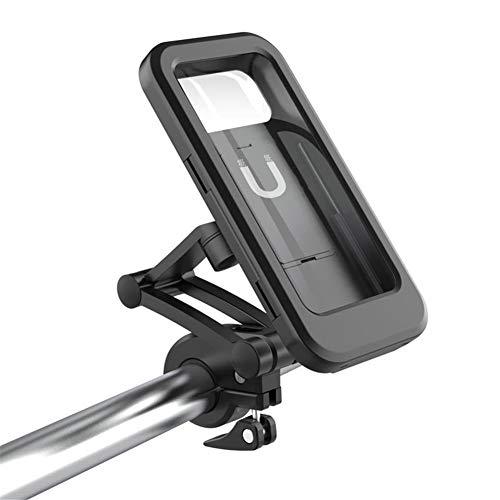 Luoji Soporte de teléfono móvil para bicicleta, resistente al agua, ajustable, universal