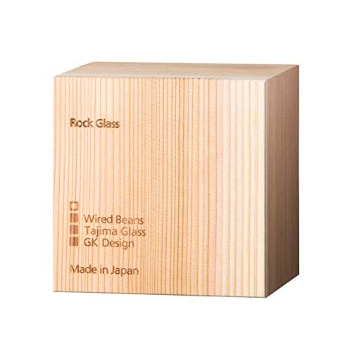 WiredBeansワイヤードビーンズ生涯を添い遂げるグラスロックロックグラス270ml国産杉箱入り(トランスペアレント)