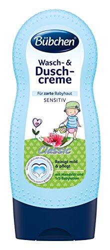 Bübchen Wasch- und Duschcreme Classic, sensitive Duschcremel für zarte Babyhaut, mit Mandelöl und 1/3 Babylotion, Menge: 1 x 230 ml