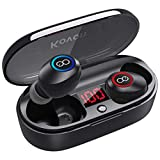 VEATOOL True Wireless Earbuds Bluetooth Headphones 5.0 Volume Control in Ear Earphones Stereo Sound Ear Buds with Mic and Charging Case for Running