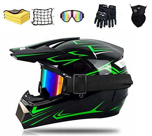 KTMAID Casco motocross bambino, Certificato D.O.T casco da cross Bambino E Ragazzi, Con Occhiali,...