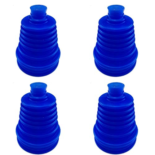 I33T Universal Flexible Silicone Constant Velocity CV Joint Boot Rubber 5 inch(125mm) Height (Pack of 4 Pieces, Blue)