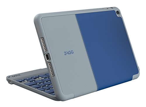 ZAGG Folio Case, Hinged Bluetooth Keyboard for iPad mini 4 - Blue