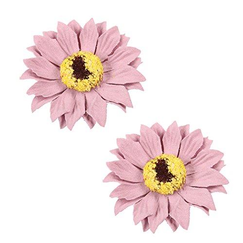 Amosfun 10pcs Bust Flower Dekorative Handmade Artificial Durable Bust Flowers Corsage Künstliche Sonnenblume für Partei
