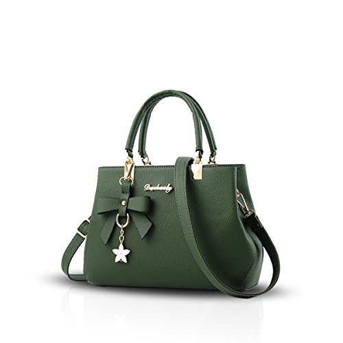 NICOLE&DORIS Bowknot Frauen Handtasche Crossbody Schultertasche Wasserdicht PU Grün