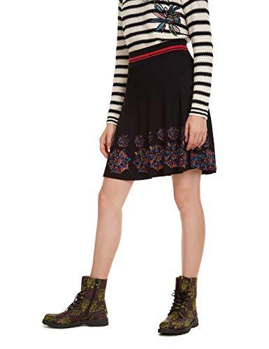 Desigual Damen Skirt Louise Rock, Schwarz (Negro 2000), Medium (Herstellergröße: M)