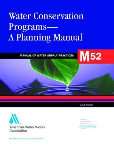 Download Water Conservation Programs: A Planning Manual (Awwa Manual) 1583213910