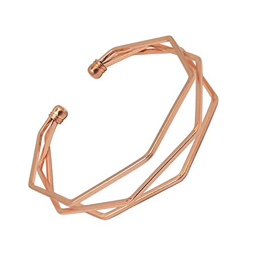 Wagrass Bracelet Gold Metal Alloy Arrow Link Chain Twist Bangle New Three Layer Romantic Open Cuff Bangles/Bracelet Set for Women Jewelry (Metal Color : C)