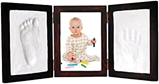 Proud Baby Clay Hand & Footprint Photo Keepsake Desktop Frame Kit (Red Mahogany)