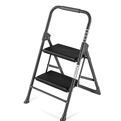 LRZLZY Haushaltsleiter Treppe Hocker Rolltreppe DREI oder Vier Stufenleiter Klappleiter Haushalt Kleiner Kletterleiter verdickte Fischgrät-Leiter Stabilität und Sicherheit (Size : Two Steps)