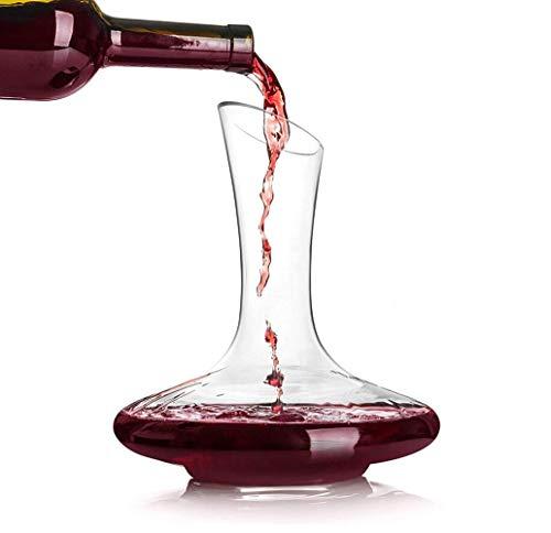 Decanter per vino rosso in vetro cristallo soffiato a mano, al 100% senza piombo, regalo e accessorio per amanti del vino Decanter