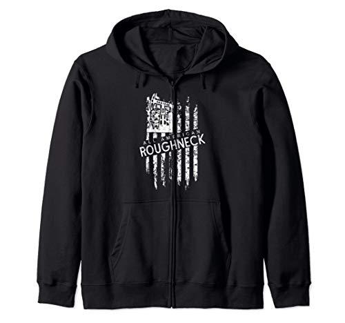 All American Roughneck American Flag Oilfield Zip Hoodie