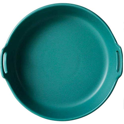 Yaseking Platos para hornear Mate Cerámica Cerámica Doble bandeja grande Bandeja grande para cocinar Pastel de cocina Cena de banquete y uso diario