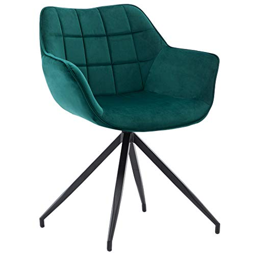 Duhome Accent Chair Mid-Back Home Office Dining Chairs Modern Upholstered Armchair Atrovirens 1ps