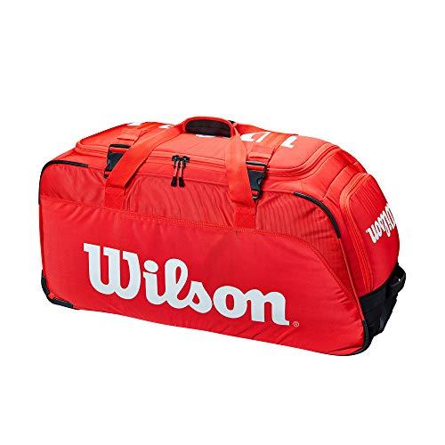 Wilson Super Tour Red Tennis Travel Duffel Bag Wheels