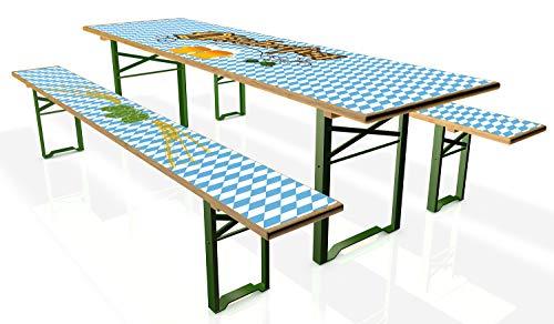 Wallario Tischdecke für Bierzeltgarnituren, selbstklebend, Folie für 1 Tisch und 2 Bänke - Motiv: Oktoberfest I