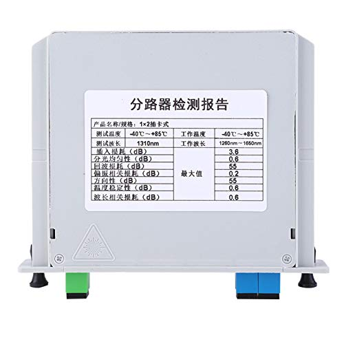 Durlclth Divisor óptico de Cuchilla-PLC óptico Divisor de PLC de Fibra óptica monomodo SC-UPC 1X2