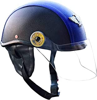 TRYFLY All Purpose Safety Helmet with Strap (Leather blue, Free Size)
