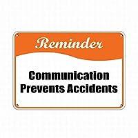 リマインダー通信事故事故防止標識金属標識