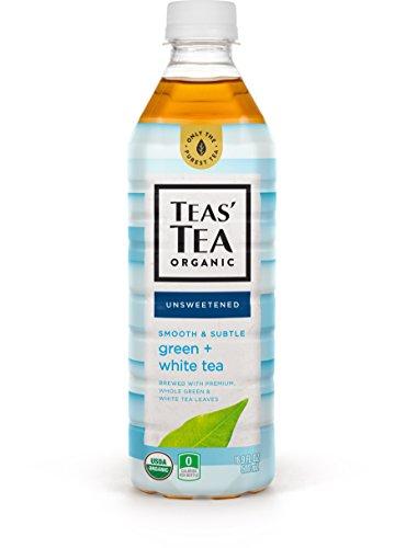 Teas' Tea Unsweetened Green White Tea 16.9 Ounce (Pack of 12) Organic, Sugar Free, 0 Calories