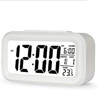 Digital Desk Alarm Clock Translucent LCD with Indoor Temprature Snooze Timer & Calendar Battery Operated Bedsite Kitchen S...