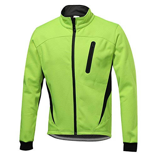 SUKUTU Chaqueta impermeable de ciclismo para hombre Chaquetas de bicicleta transpirables térmicas de lana cálida de invierno a prueba de viento Softshell