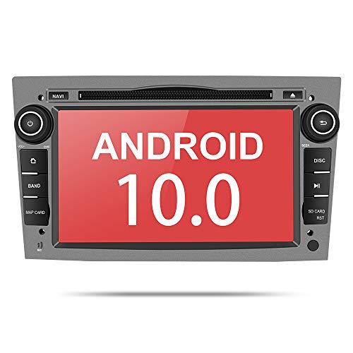 Aumume Android 10.0 Autoradio für OPEL Astra Zafira Combo Corsa Antara Vivaro mit Navi, Unterstützt Autoplay Mirrorlink Bluetooth DSP DAB+ WiFi USB CD DVD (Grau)