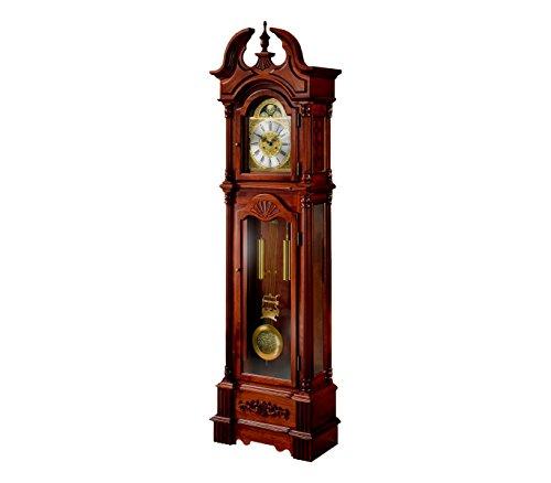 RELOJESDECO Reloj de pie, Reloj de antesala, Reloj pie con maquinaria mecánica 31días, Color Cerezo. 206cm
