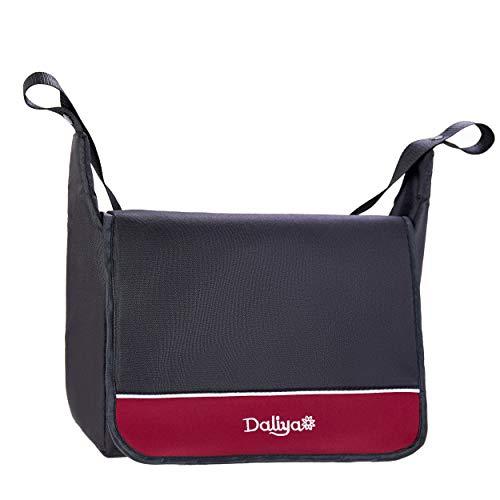 Daliya Wickeltasche/Mamabag/Babytasche/Kliniktasche/Tasche original für Bambimo Kinderwagen/Buggy oder Universal (Bordeaux-Rot)