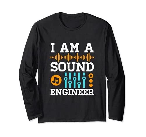 Sound Engineer オーディオミキサー ディスク ジョッキー レコーディング エンジニア 長袖Tシャツ