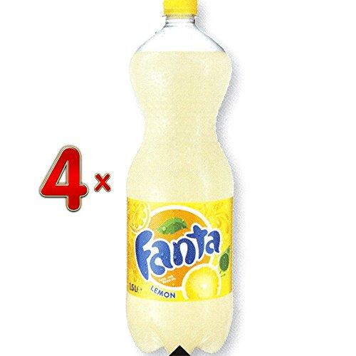 Fanta Lemon PET 4 x 1,5 l Flasche (Fanta Zitrone)