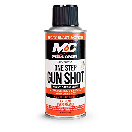 Mil-Comm One Step Gun Shot, Clean, Lubricate and Protect CLP, TW25B Grease Spray and Cleaner 4.2-Ounce (4.2)