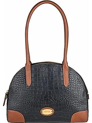 Hidesign Women's Shoulder Bag(CRO MEL RAN BLACK TAN)