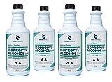 Medical Grade Isopropyl Alcohol 99.9% (32oz) Pack of 2 (4 Bottles (1-Gallon))