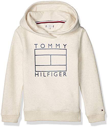 Tommy Hilfiger Essential Graphic Hoodie Sudadera, Marrón (Brown G65), 125 (Talla del Fabricante: 5) para Niñas