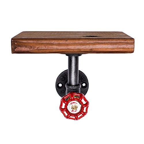 Tutoy Industrial Retro Eisen Rohr Regal Rack Wandhalterung Holzlagerung Display Regal Halter