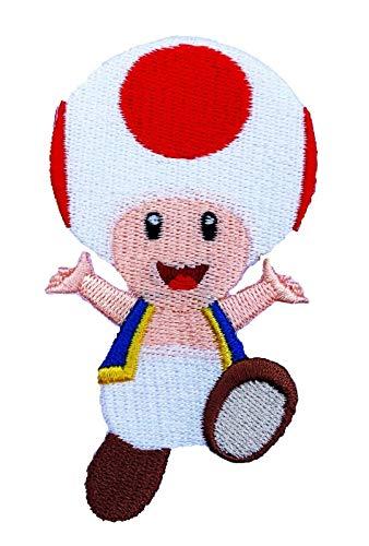 Karma Patch - Parche de remolque (3,5 pulgadas) Super Mario Bros bordado para planchar o coser en insignia DIY