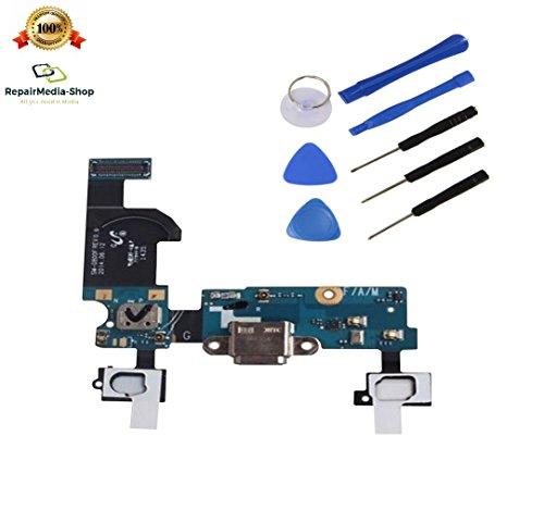 für Samsung Galaxy S5 Mini G800F Ladebuchse USB Dock Charge Connector Home Back Menü Button Taste Flex Kabel + WERKZEUGSET