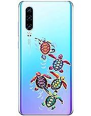 Oihxse Funda para Huawei Y5 2019/honor 8S Transparente, Estuche con Huawei Y5 2019/honor 8S Ultra-Delgado Silicona TPU Suave Protectora Carcasa Océano Animal Serie Bumper (C7)