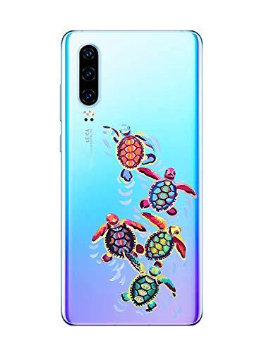 Oihxse Funda para Huawei Honor 9X/9X Pro Transparente, Estuche con Huawei Honor 9X/9X Pro Ultra-Delgado Silicona TPU Suave Protectora Carcasa Océano Animal Serie Bumper (C7)