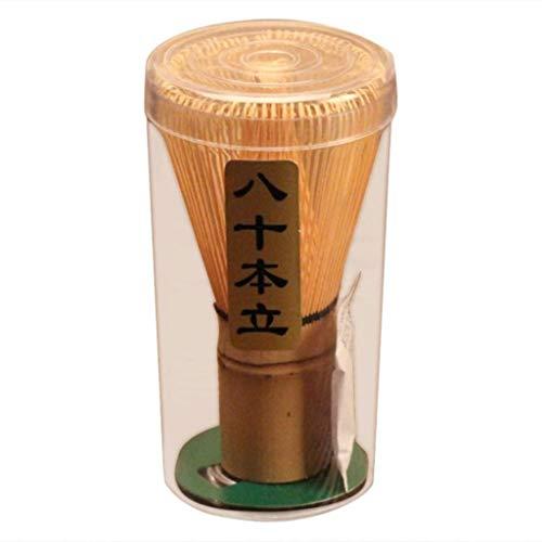 POFET Bambu Chasen Matcha Herramienta de batidor en polvo japones para ceremonia de te 70-75 puntas