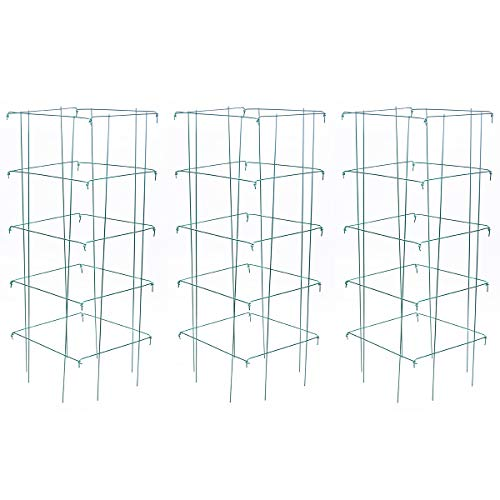 Burpee Medium Heavy Gauge Green Tomato 3 Cages | 14' x 14' x 40' | Made in...