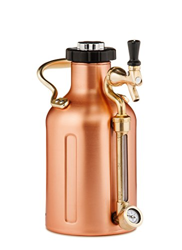 GrowlerWerks uKeg Carbonated Growler, 64 oz, Copper