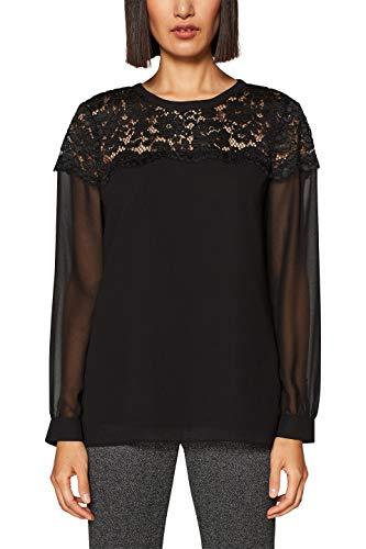 ESPRIT Collection 128eo1f008 Blusa, Negro (Black 001), 38 (Talla del Fabricante: 36) para Mujer